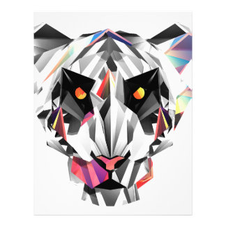 Geometric Tiger Letterhead