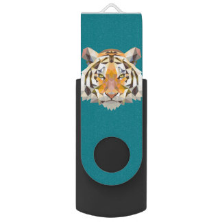 Geometric Tiger nordic style usb USB Flash Drive
