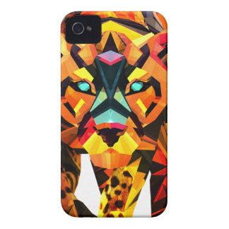 Geometric Tiger Prowl Case-Mate iPhone 4 Cases