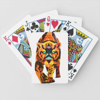 Geometric Tiger Prowl Poker Deck