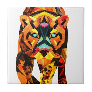 Geometric Tiger Prowl Tile