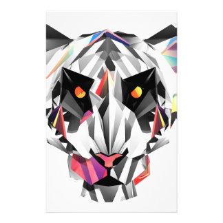 Geometric Tiger Stationery