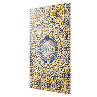 Geometric tile pattern, Morocco Canvas Print