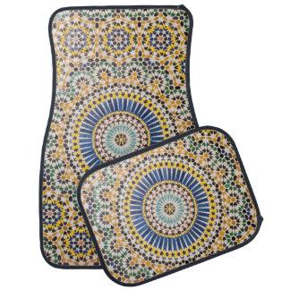 Geometric tile pattern, Morocco Car Mat