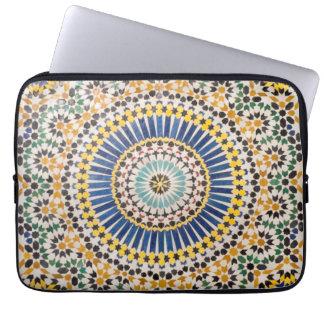 Geometric tile pattern, Morocco Laptop Computer Sleeve