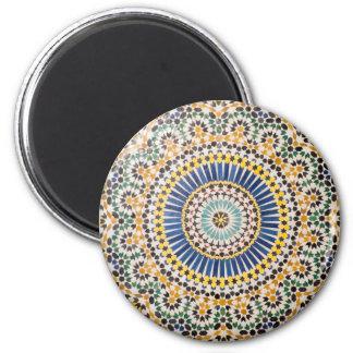 Geometric tile pattern, Morocco Magnet