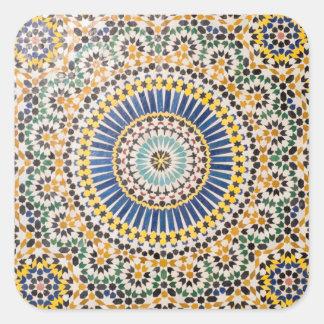 Geometric tile pattern, Morocco Square Sticker
