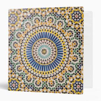 Geometric tile pattern, Morocco Vinyl Binders