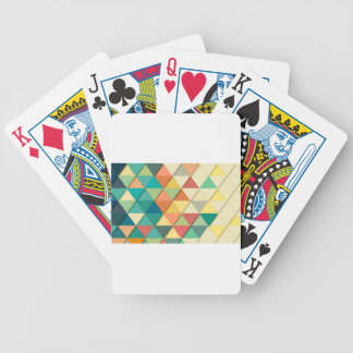 Geometric Triangle Bicycle Playing Cards