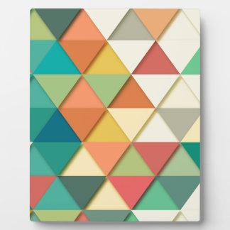 Geometric Triangle Plaque