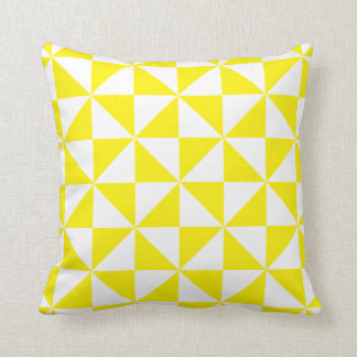 Geometric Triangle Yellow or Color Custom Pillow