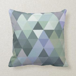 Geometric Triangles Foggy Morning Blues Pillows