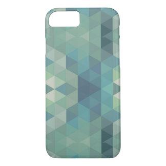 Geometric Triangles - Fresh Water iPhone 7 Case