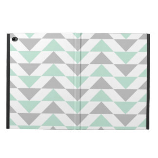 Geometric Triangles Mint Green Gray White Pattern Powis iPad Air 2 Case