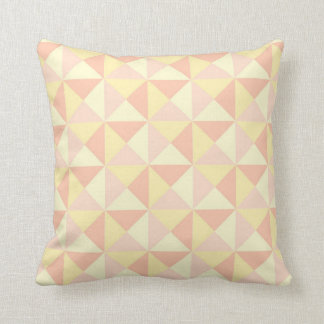 Geometric Triangles Pastel Peach Yellow Pillow