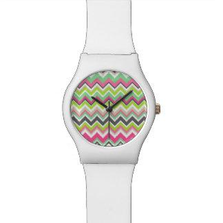 Geometric tribal aztec andes chevron zig zag print watches
