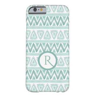 Geometric Tribal Pattern Mint-Green & White Barely There iPhone 6 Case
