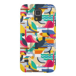 Geometric Tropical Birds Galaxy S5 Case