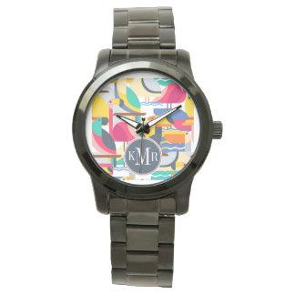 Geometric Tropical Birds | Monogram Wristwatches
