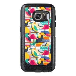 Geometric Tropical Birds OtterBox Samsung Galaxy S7 Case