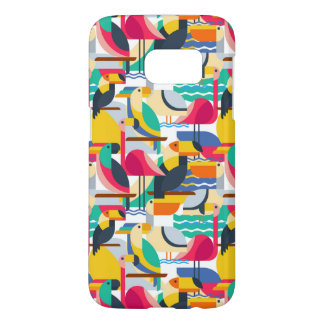 Geometric Tropical Birds Samsung Galaxy S7 Case