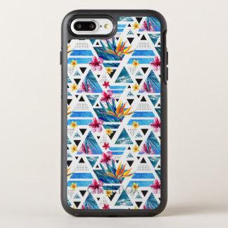 Geometric Tropical Flowers Pattern OtterBox Symmetry iPhone 8 Plus/7 Plus Case