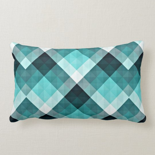 Geometric Turquoise Pattern Lumbar Pillow