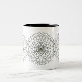 geometric two tone coffee cup