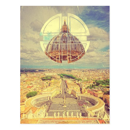 Geometric Vatican St Peter's Square Basilica Italy Postcard