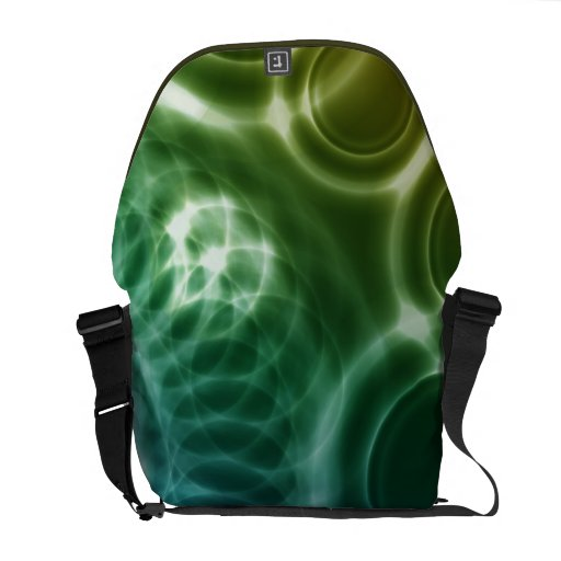 Geometric Vector Abstract Art Messenger Bag
