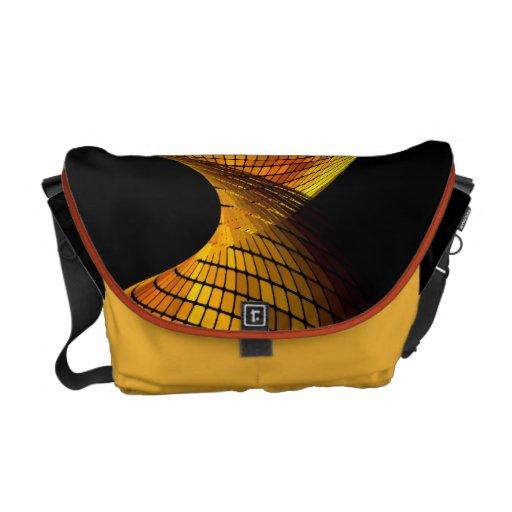 Geometric Vector Abstract Art Messenger Bags