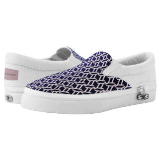 """geometric"" violet canvas texture Slip-On sneakers"