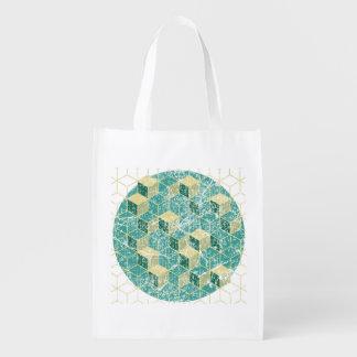 geometric washed bag