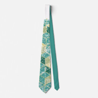 geometric washed tie