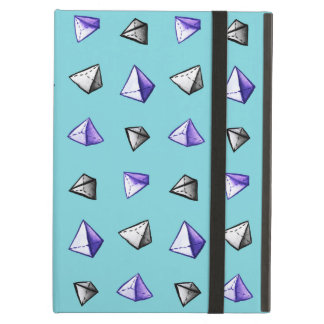 Geometric Watercolor Pyramid Pattern Geek Case For iPad Air
