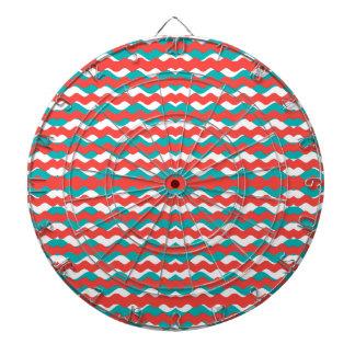 Geometric Waves Pattern Dartboard