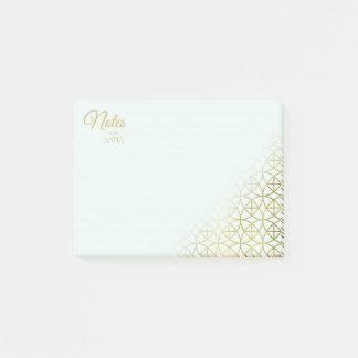 Geometric Wedding Gold on Mint ID477 Post-it Notes