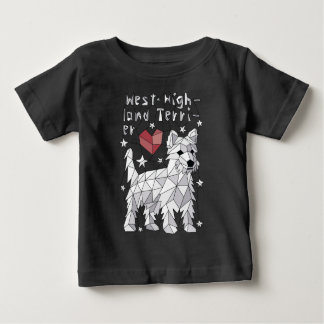 Geometric West Highland Terrier Baby T-Shirt