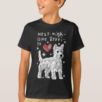 Geometric West Highland Terrier T-Shirt