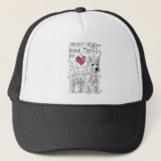Geometric West Highland Terrier Trucker Hat