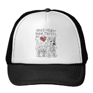 Geometric West Highland Terrier Trucker Hat