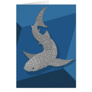 Geometric Whale Shark Vector Art Blank Card