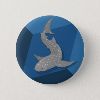 Geometric Whale Shark Vector Art Button