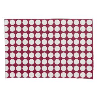 Geometric White Polka Dots on any Color Pillowcase