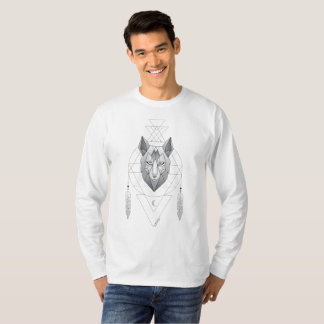 Geometric Wolf Dream Catcher T-Shirt