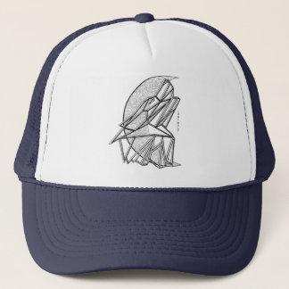 Geometric Wolf Trucker Hat