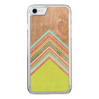 Geometric wood arrow carved iPhone 8/7 case