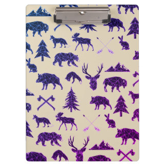 Geometric Woodland Animals | Animal Clip Board