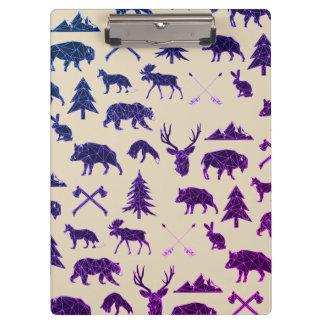 Geometric Woodland Animals | Animal Clip Board Clipboards