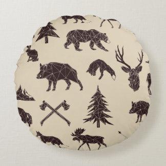 Geometric Woodland Animals | Animal Throw Pillow